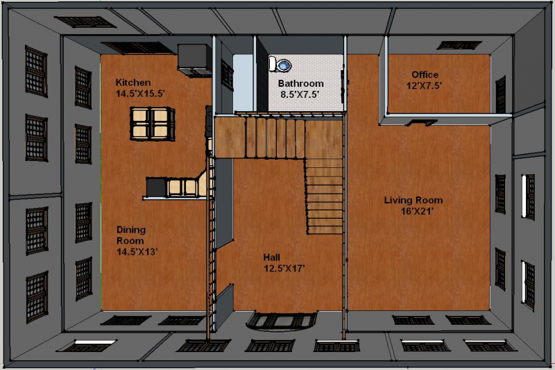 1st Floor Plan View