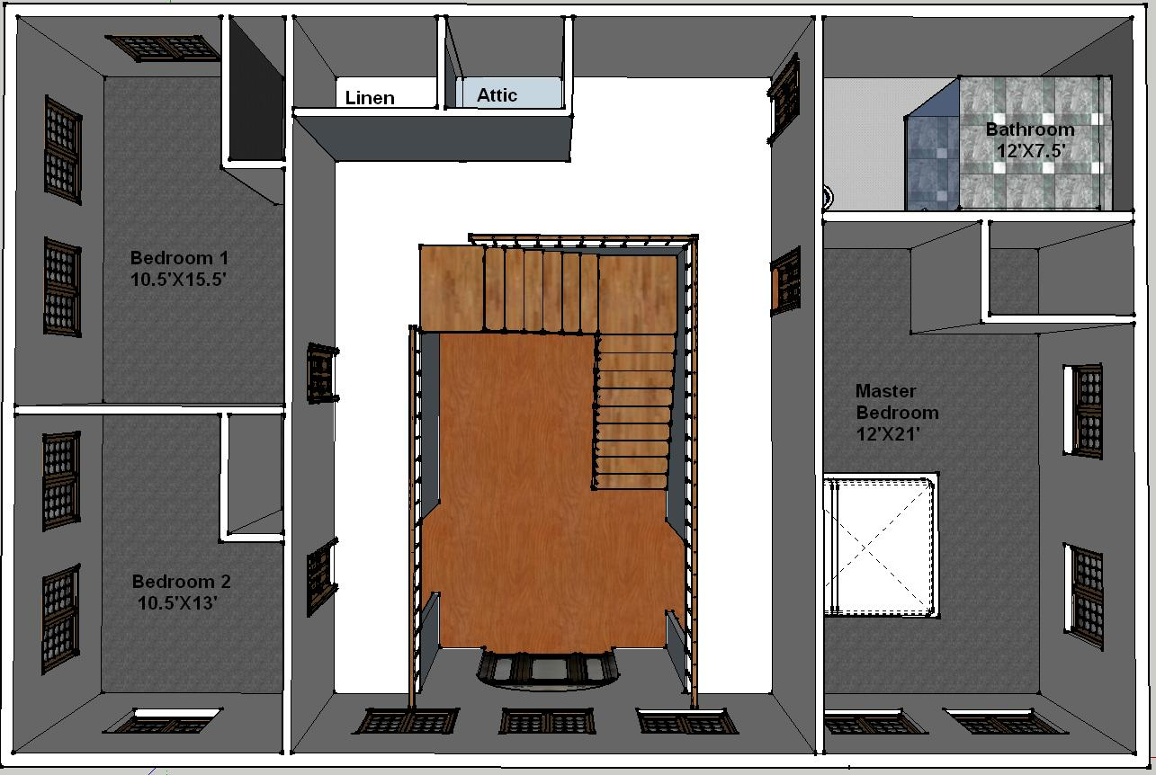 2nd floor plan view - Second Floor Floor Plans