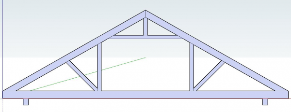 Roof Truss View
