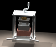Thermoelectric test stand without insulation & mesh isolation