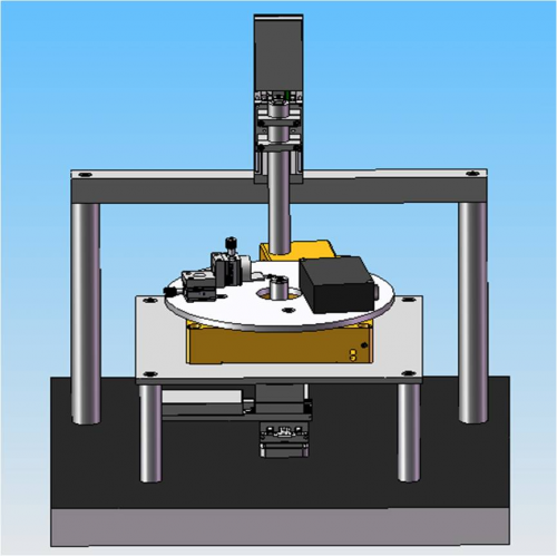 A picture of the SolidWork drawing of the Centering Device