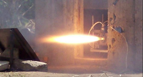 Test-firing a stage of the hybrid rocket