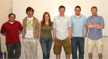 Team Picture (left to right: Paul Gaylo, Michael Rheinheimer, Erin Crowley, Joel Nelson, Frank Trotto, Stephen Byrne)