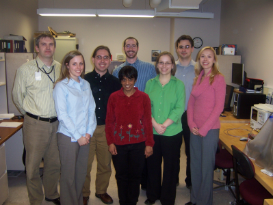 Design Team: (from left to right) Mo Hasanovic, Jessica Stein, Michael Enders, Dr. Venkataraman, Michael Pecoraro, Amanda Kristoff, Joel Barry, Mia Mujezinovic