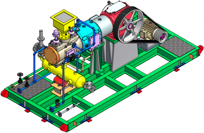 3D Model of Dresser Rand Compressor