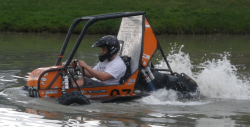 RIT Baja vehicle in action