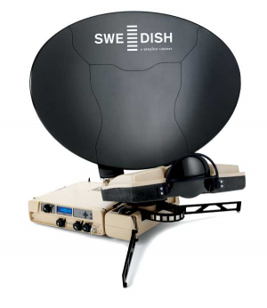The SWE-DISH, produced by Rockwell Collins currently employs an autopoint solution