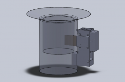 Stove with TE Device Attached