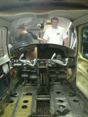 This is what the cockpit looked like at the end of Senior Design 1