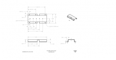 This our CAD Drawing of the LVDT holding bracket