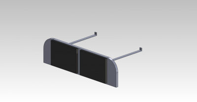 This our CAD Drawing of the Dash Display