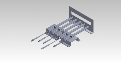This our CAD Drawing of the LVDT Mounting Assembly