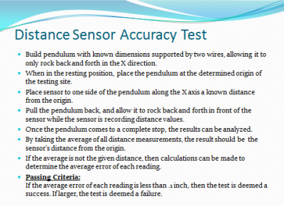 Sensor Accuracy Test