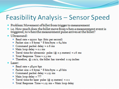 Analysis of Sensor Speed