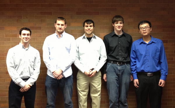 From left to right: Alex Viola, Dan Pashina, Cory Smiley, Jack Stokes and Ding Zhuo.