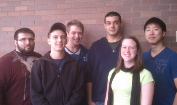 Front (left to right): Ryan Shaw, Kristi Weaver Back (left to right): Samuel Remp, Raymond Boronczyk, Evan Lammertse, Yokai Ro