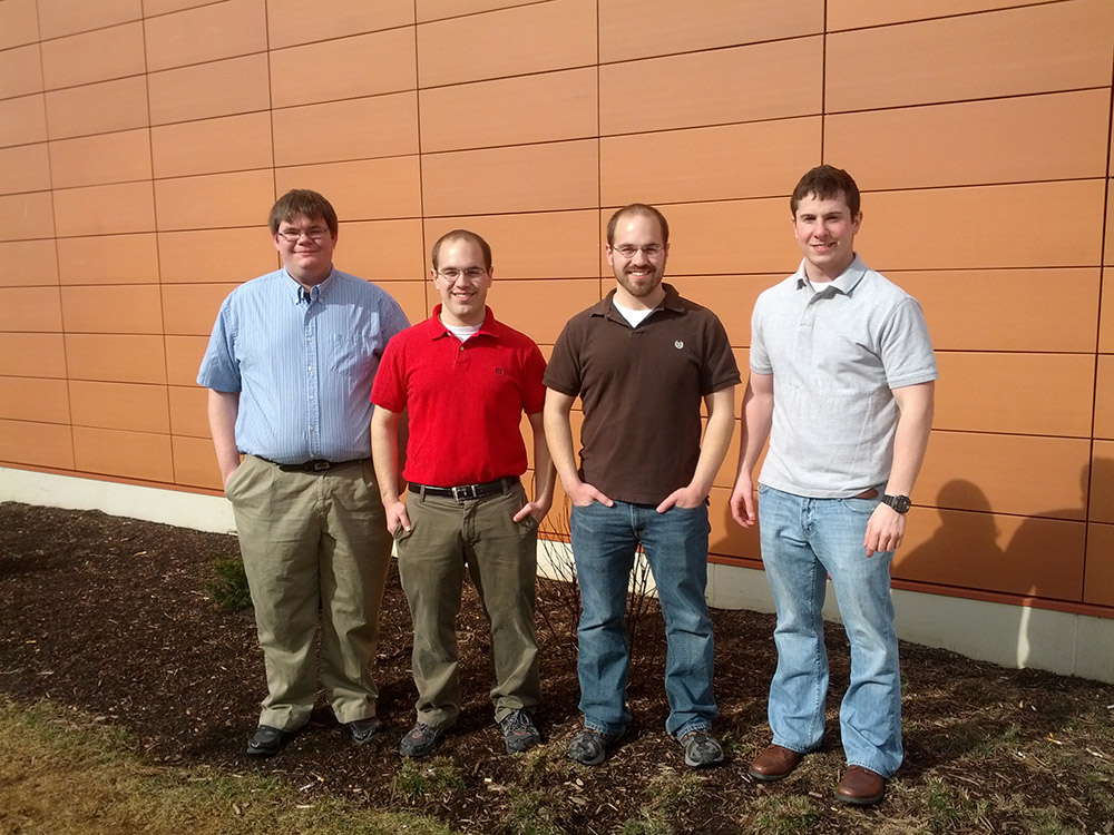 A picture of the RIT Fox-2 MPPT Senior Design Team