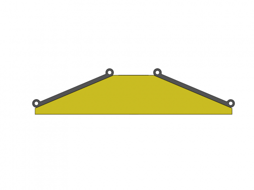 Speed Bump profile view with City Tube attached to the top