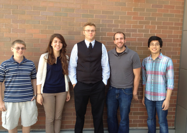 (From Left to Right): Keith Slusser, Bridget Lally, Jake Bertani, Nick Matson, Avash Joshi