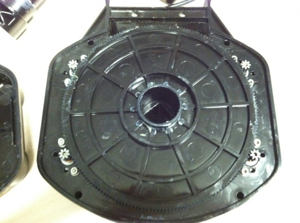 Top view of entire gear assembly