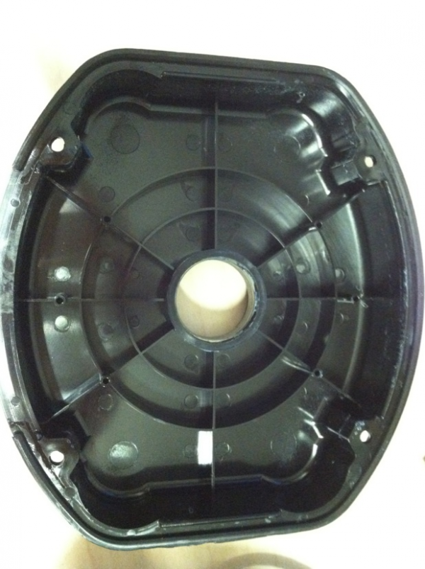 View of the inside of the generator outer cover