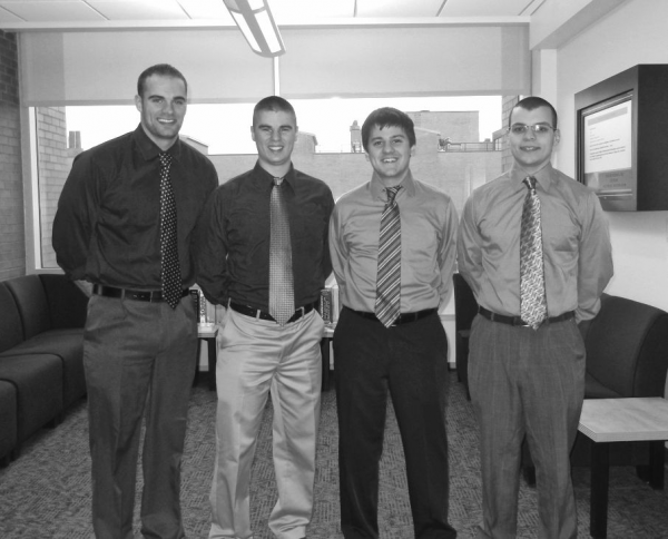 P13465 Team Members (from left to right): John Harrington, Andrew Nauss, Tim Jordan, and Danny Abdeen
