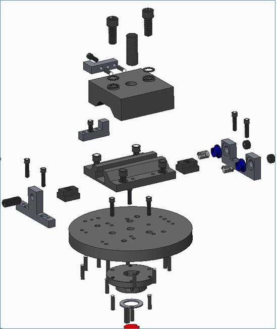 Adjustment Mechanism: Exploded View