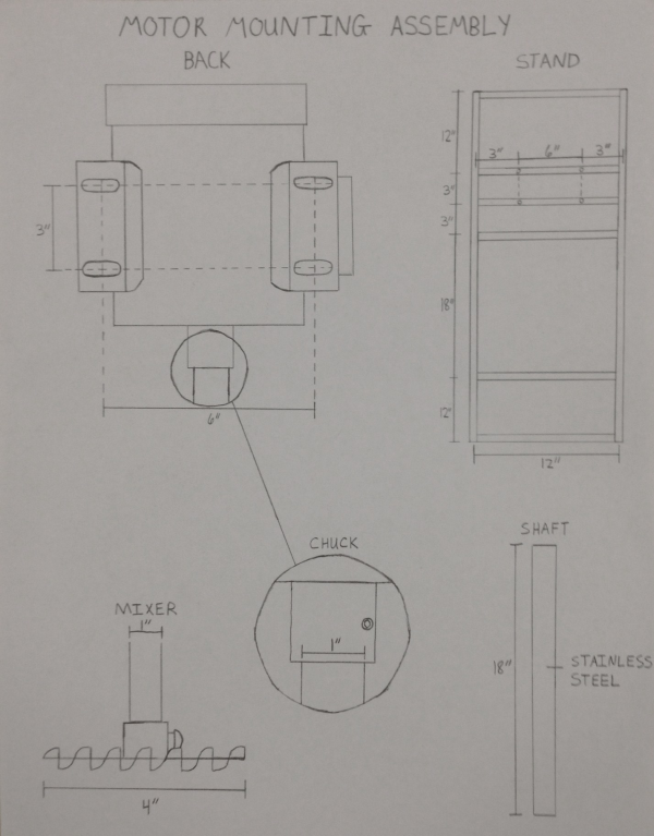 Mixer Mount Assembly Drawing