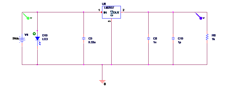 Voltage Regular 3.3V Circuit LED
