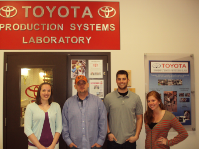 Team Members (left to right) Holli, Bill, Trevor, and Emily