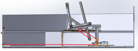Figure 46: Chair Rope System side path with strut