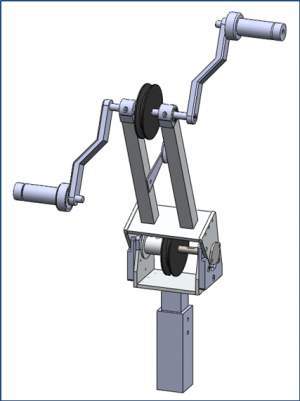 Figure 38: Crank System of previous iteration