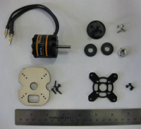 All the components of the motor assembly