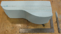 The bottom of the mold block