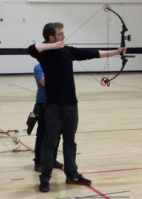 Tim holding compound bow