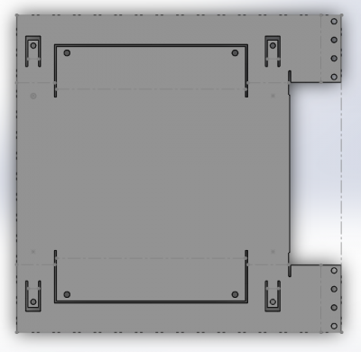Flattened Version of Tray to Show Sheet Metal Layout