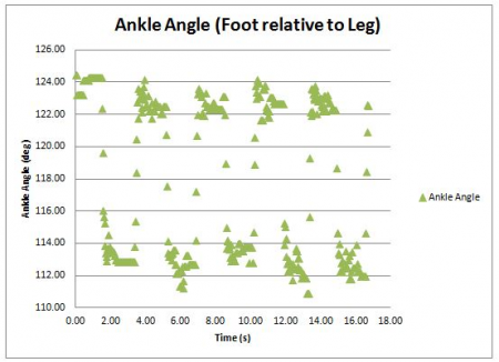 Angle Results from Foot Lift Test