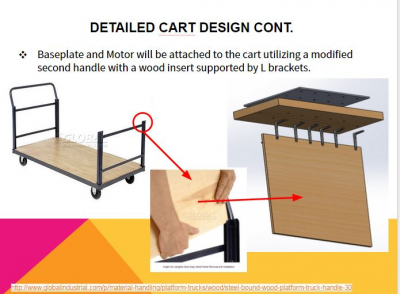 Design to mount the motor during transportation using the industrial cart.