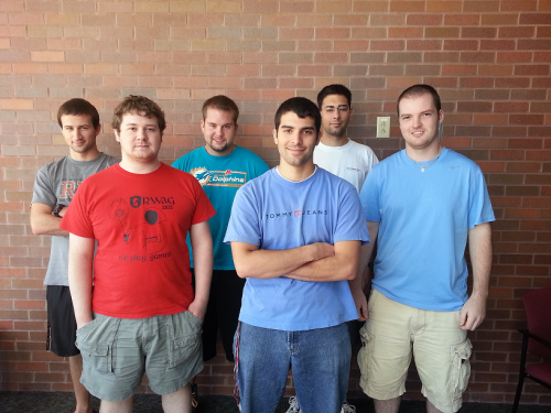 From left to right: Michael Oplinger, Ross Bluth, Tyler Breitung, Anthony Salmin, Stephen Mroz, Brian Church
