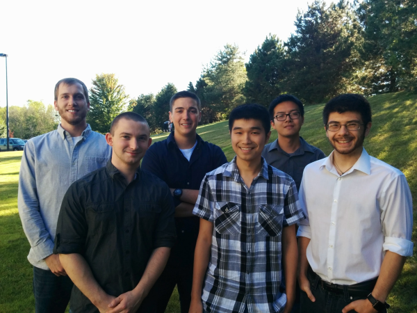 From left to right: Kevin Labourdette, Thomas Casero, Kyle Burden, Quang Huynh, Daniel Sui, Ian Morency