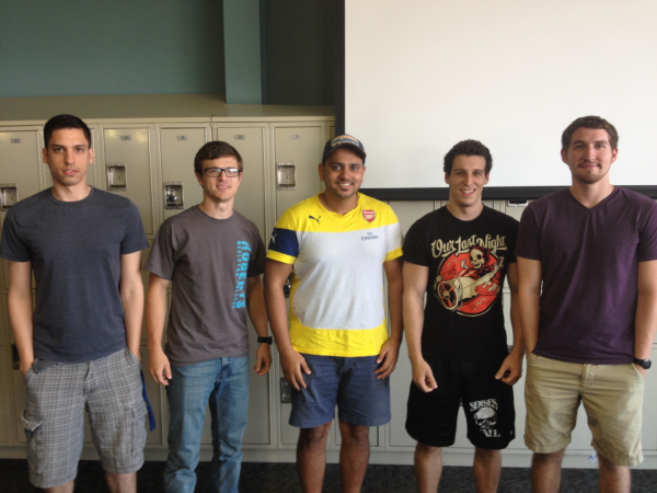 Members from Left: James Jewis, Jesse Follman, Yousif Al-Ali, Nick D'Ermilio, Matthew Sutton