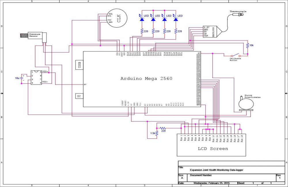 Circuit Diagram for Internals of Revision 1 Prototype