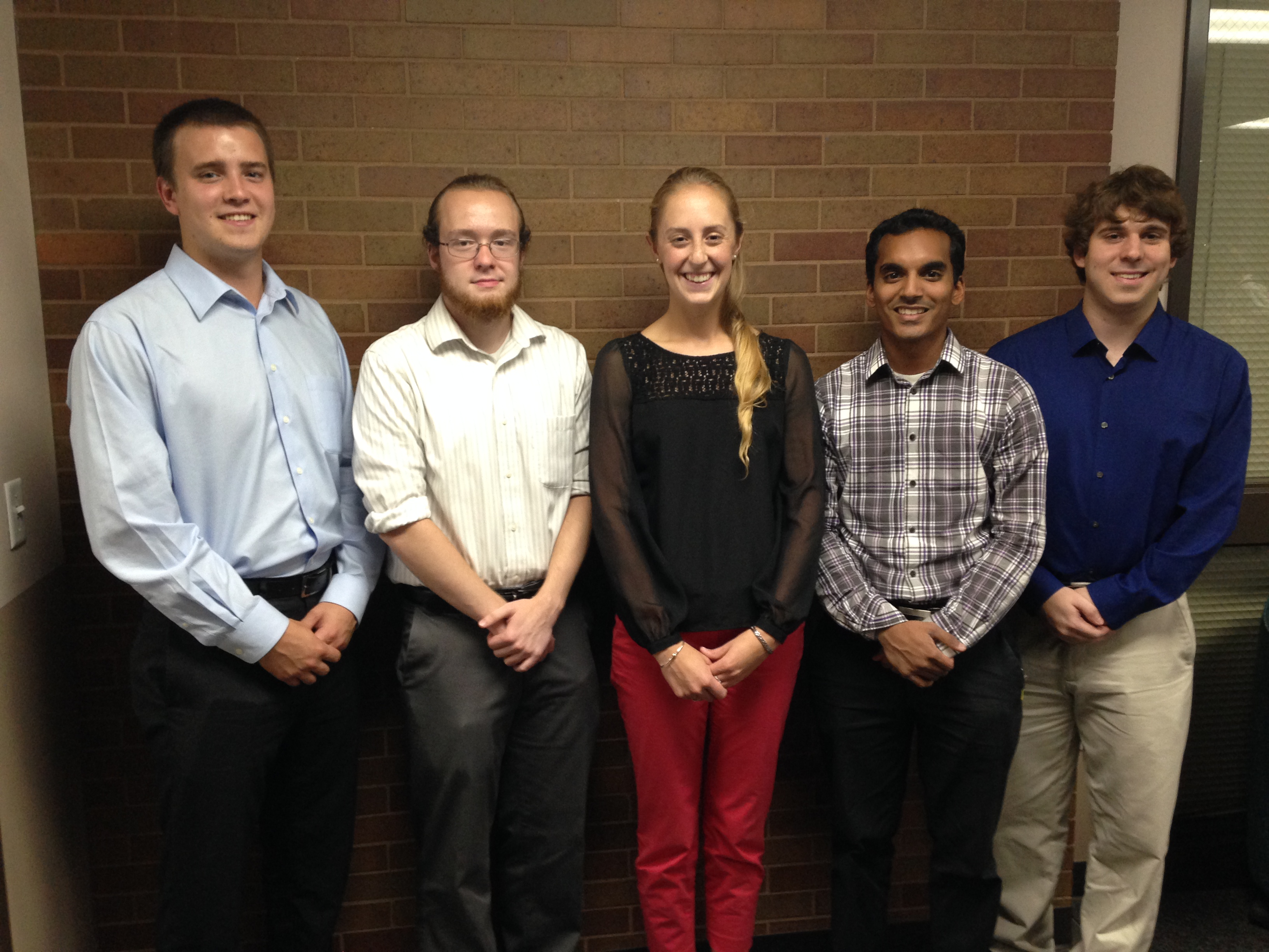 From Left to Right: Mischa Dombovy-Johnson, Dan Consolazio, Ericka Larssen, Keshav Francis, Alex Offredi