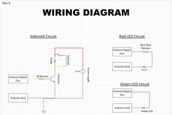 Our current wiring schematic for some of our individual components. The rest of our drawings are available through the link below.
