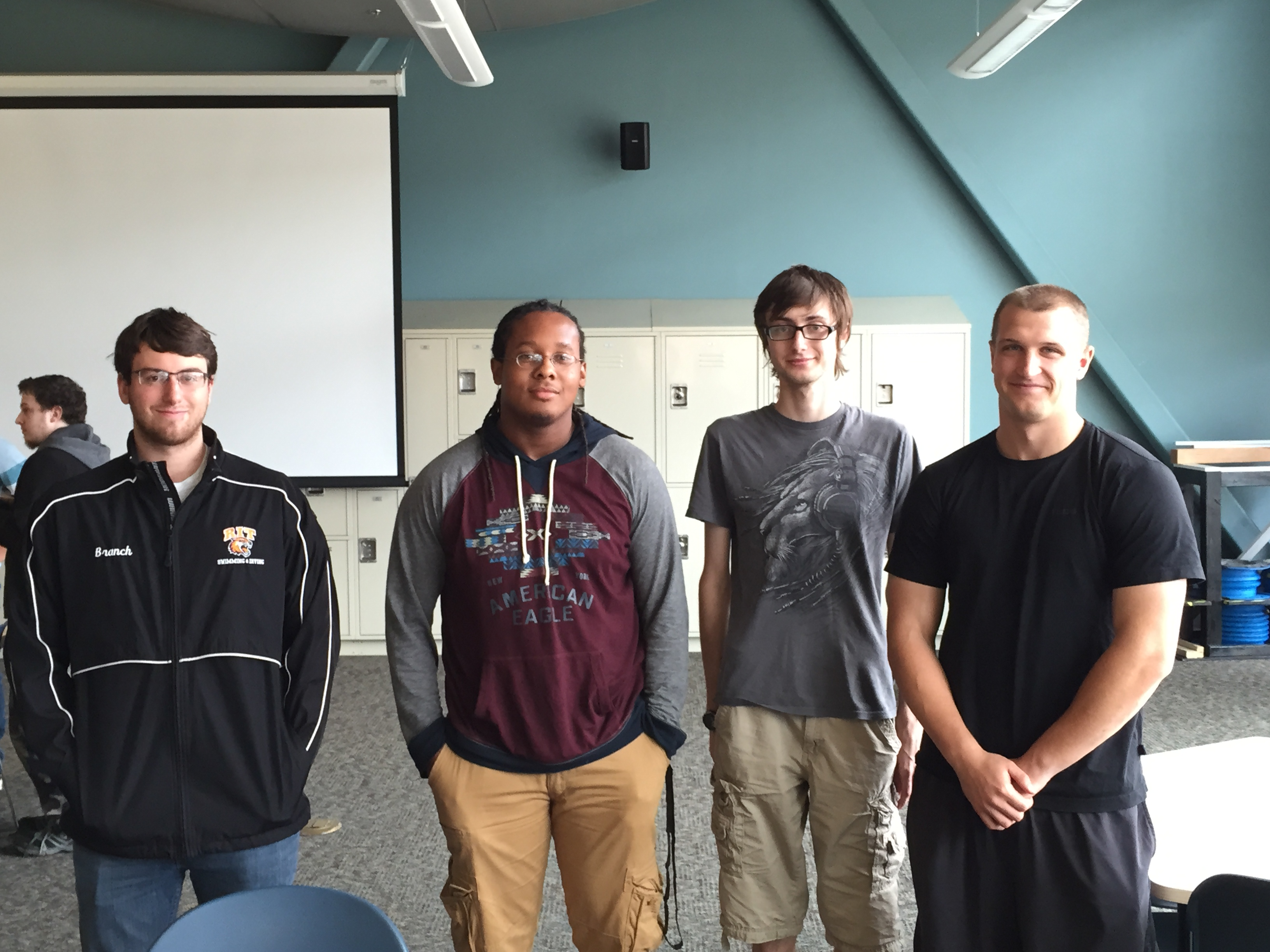 From left to right: Alex Branch, Dominique Hall, Alex Krall, Jacob Swearingen