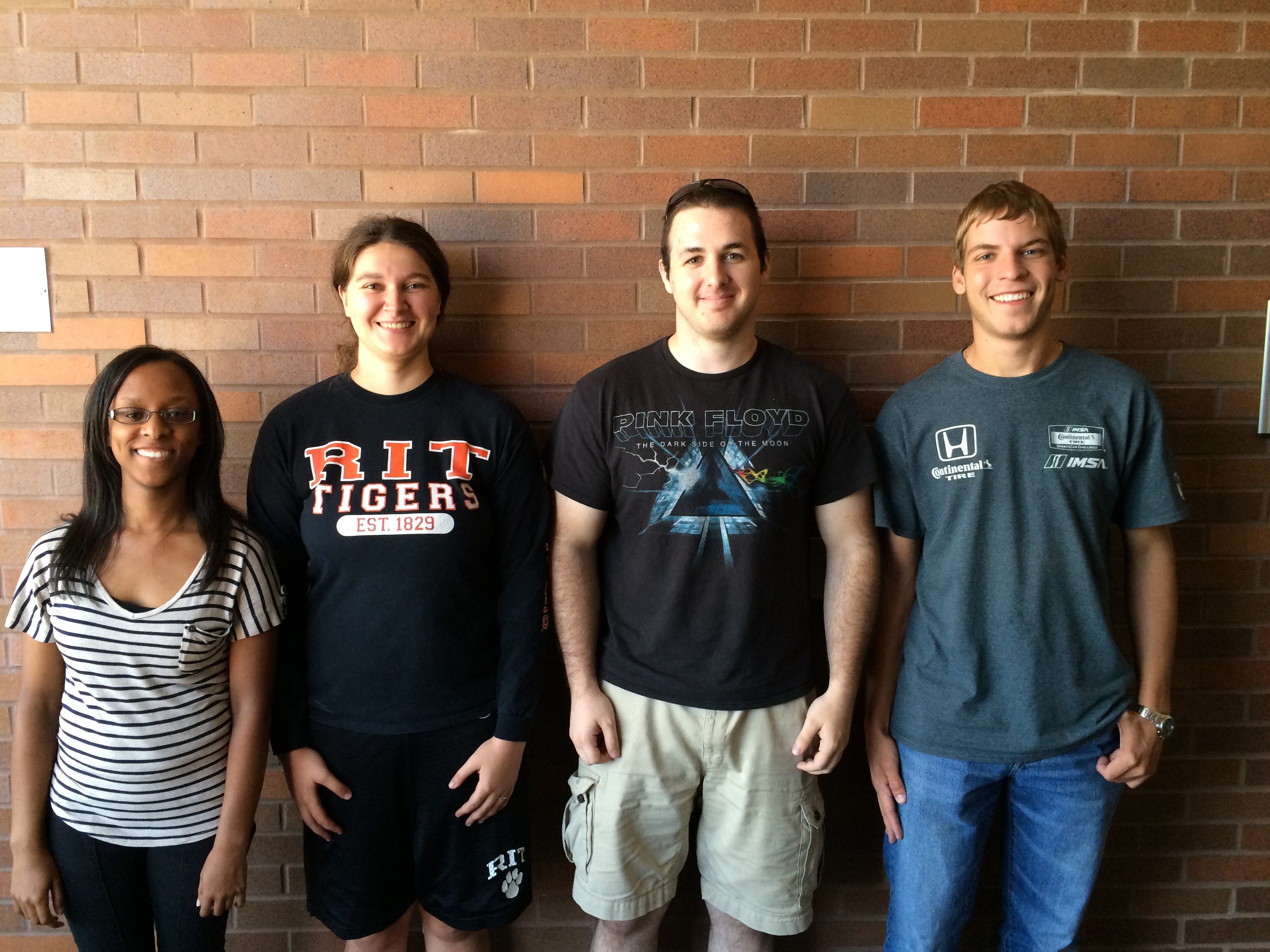 From left to right: Maxine Laroche, Angelica Hambrecht, Justin Kibler, and Nate Watts
