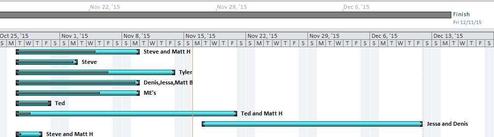 detailed timeline project