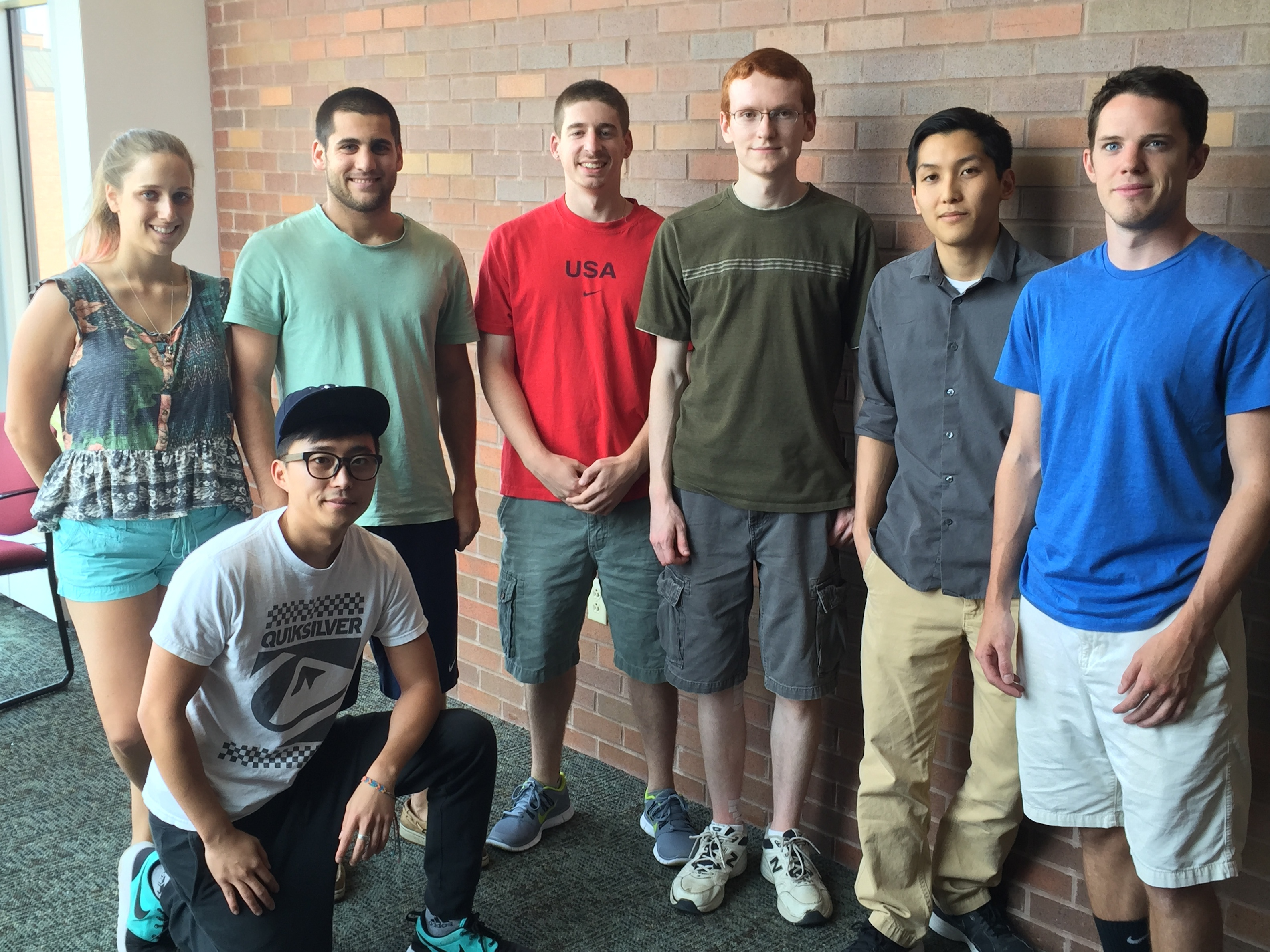 (From left to right): Jessa Dermit, Ted Kang, Steven Smith, Denis DiMartino, Matt Hube, Tyler Dao, Matt Ballerini