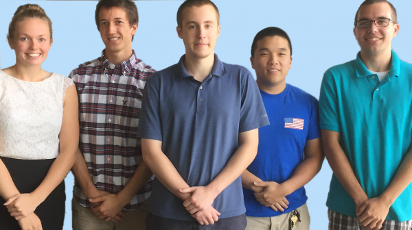 Left to Right: Amy Zeller, Josh Long, Jordan Blandford, Peter Cho, Nathan Twichel