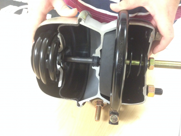 Cut out air brake from Bendix-Wagner Lab at RIT